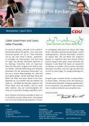 Newsletter | April 2011 Liebe Leserinnen und Leser ... - Frank Heinrich