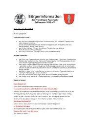 Verhalten im Brandfall - Freiwillige Feuerwehr Zellhausen