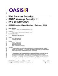 SOAP Message Security 1.1 (WS-Security 2004) - OASIS Open Library