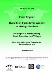 Rural non-farm employment in Madhya - Natural Resources Institute