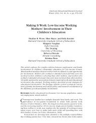 Making It Work: Low-Income Working Mothers - Harvard Family ...