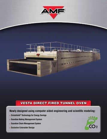 VESTA DIRECT FIRED TUNNEL OVEN - AMF Bakery Systems