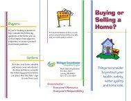Buying or Selling a Home - Michigan Water Stewardship Program
