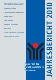 60385 Frankfurt - Förderung der Bewährungshilfe in Hessen eV