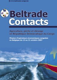 Beltrade Contact agricultures - Beltrade-congo