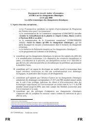 Document de travail: Atelier «Économies» - Forum - Europa