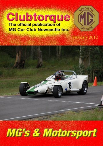 February front cover - MG Car Club Newcastle