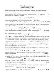 4° Test di autovalutazione Corso di Chimica (L-Z)