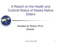 A Report on the Health and Cultural Status of Alaska Native Elders