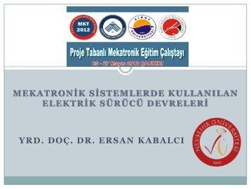 Yrd. Doç. Dr. Ersan KABALCI