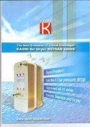 Page 1 KAORI Air Dryer Page 2 Innovation In the compressed alt ...