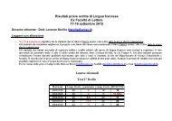 Risultati prove scritte di Lingua francese Ex Facoltà di Lettere 17-18 ...