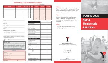 Membership Assistance Application - YMCA of Greater Toronto