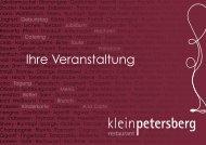 Unsere Veranstaltungsmappe - Restaurant Kleinpetersberg