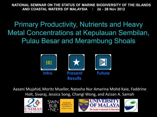 Primary Productivity, Nutrients and Heavy Metal Concentrations at ...