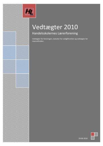 de gældende vedtægter som pdf-fil - Handelsskolernes Lærerforening