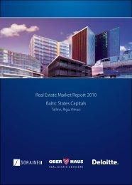 Real Estate Market Report 2010 Baltic States Capitals - Ober-Haus