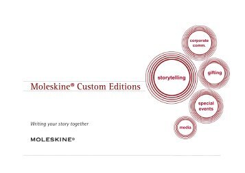 Moleskine Custom Editions - Ultimate - Promotional Paper Products