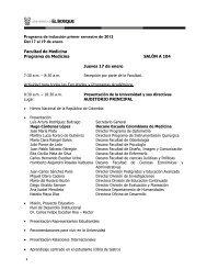 Programa de inducción primer semestre de 2013 Del 17 al 19 de ...