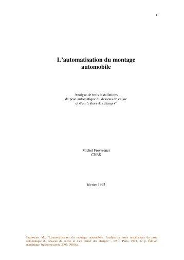 L'automatisation du montage automobile - Michel Freyssenet
