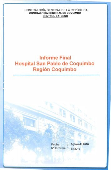 informe final 53-10 hospital san pablo de coquimbo auditoria de ...