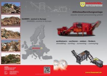Altholzaufbereitungsanlage waste wood processing ... - Hammel.de