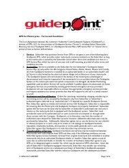GPS for Motorcycles - Terms and Conditions This is an ... - Guidepoint