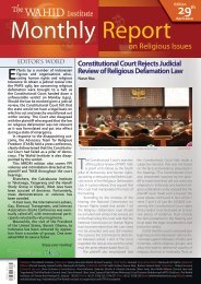 Constitutional Court Rejects Judicial Review of ... - Wahid Institute