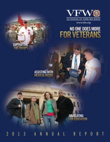 2 0 1 3 A N N U A L R E P O R T - Veterans of Foreign Wars