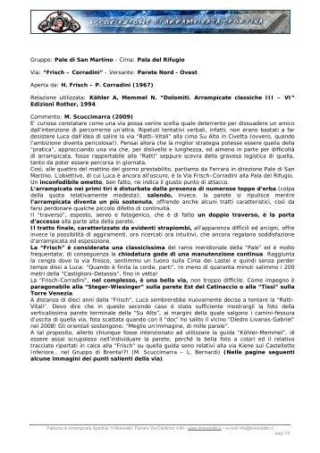 Gruppo: Pale di San Martino - Cima: Pala del Rifugio ... - Il Monodito