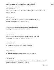 NARSC Meetings 2013 Preliminary Schedule - North American ...