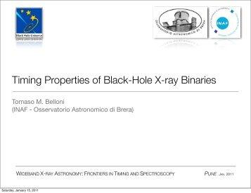 Timing Properties of Black-Hole X-ray Binaries - iucaa