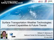 Surface transportation weather technologies - Lakeside Conference