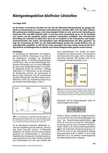 Röntgeninspektion bleifreier iötstellen - Phoenix|x-ray