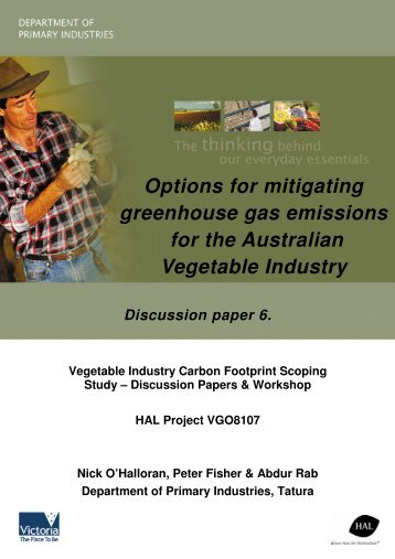 Options for mitigating greenhouse gas emissions for the Australian ...