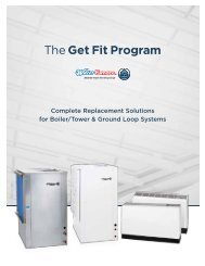 Download the Program Replacement Guide - WaterFurnace