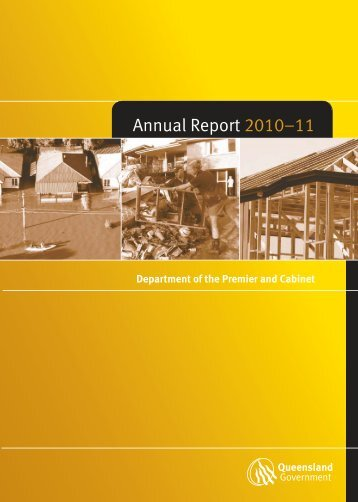 2010-11 Annual Report - Department of the Premier and Cabinet