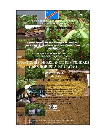 strategies de relance des filieres café robusta et cacao