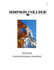 2013-2014 Financial Assistance Handbook - Simpson College