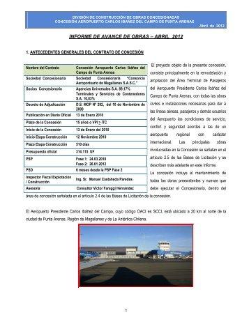 abril 2012 - Coordinación de Concesiones de Obras Públicas