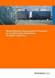 Skonsolidowane Sprawozdanie Finansowe za rok 2010 ... - Bankier.pl