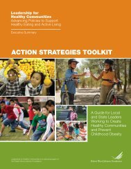 ACtion StrAtegieS tooLkit - Robert Wood Johnson Foundation