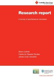 A survey of spontaneous volunteers - Australian Red Cross