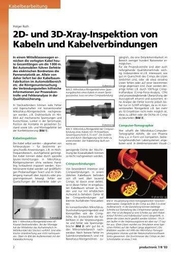 2D- und 3D-Xray-Inspektion von Kabeln und ... - Phoenix|x-ray
