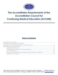 The Accreditation Requirements of the Accreditation Council for ...