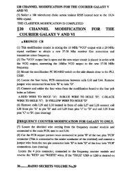 Courier Galaxy V And VI 120 Channel Modification - CB Tricks