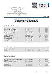 Management-Seminare - BAU-Akademie-Nord