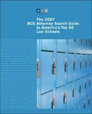 The 2007 BCG Attorney Search Guide to ... - Legal Recruiters