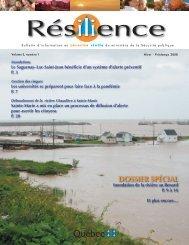 Volume 3, no 1, hiver-printemps 2008 - Ministère de la Sécurité ...