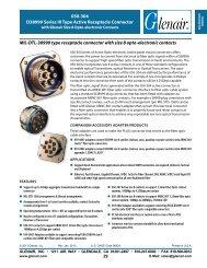 050-304 D38999 Series III Type Active Receptacle ... - Glenair, Inc.